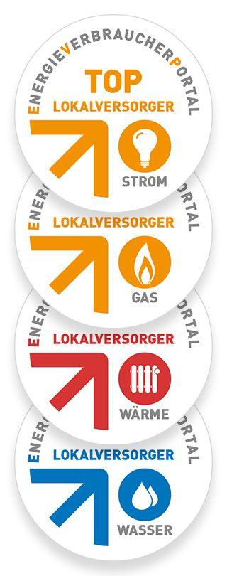 TOP-Lokalversorger Siegel Strom, Gas, Wasser, Wärme